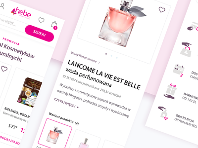 Hebe e-commerce ux webdesign shop cosmetics website web typography icons e-commerce design ui