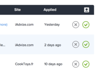 Applications validation page