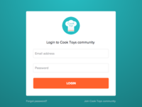 Click to community login form