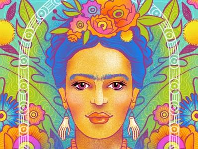 Frida Khalo frida kahlo flowers illustration portrait design procreateapp digital illustration illustration