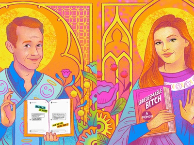 Saints of GCF Podcast flowers portrait design digital illustration illustration