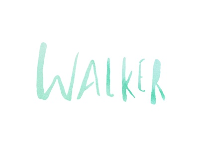 Walker Watercolor Logo