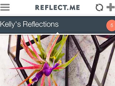 Reflect.me App Detail app design reflect ios ui ux capture