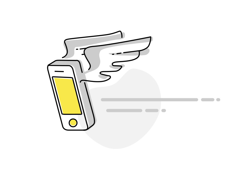 Fast Mobile App speedy fly app illustration fast mobile