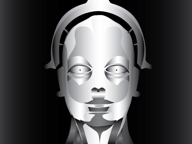 The Maschinenmensch vector illustration machine robot scifi metropolis