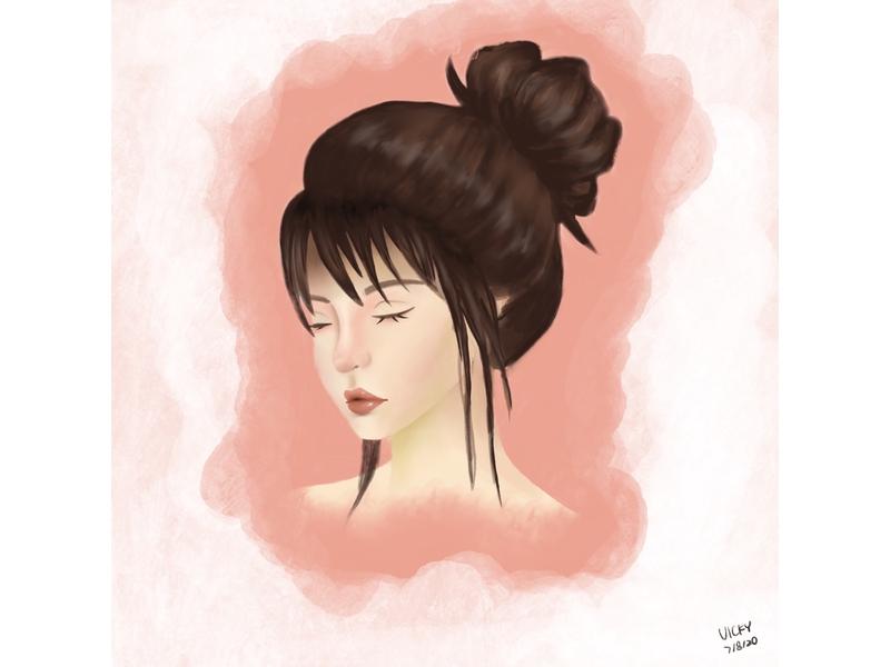 Portrait watercolor portrait face procreate