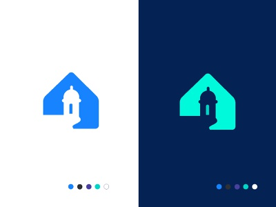 Beucasa building stay travel tourism negative space house homestay holiday creative design concept minimal brand vector creative identity icon mark illustration logo