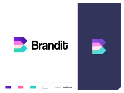 brandit colourful typography letter b home house building content creation video production stickers advertiser communication brandit concept minimal creative identity icon mark illustration logo