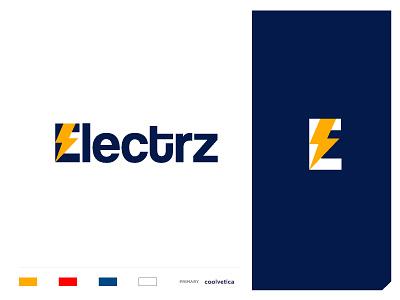 electrz e sumesh jose thunderbolt thunder voltage industry electronics efficiency power energy vector branding concept minimal creative mark identity icon illustration logo