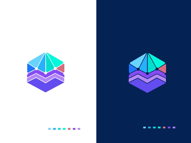 Melano arrow group network business levels abstract triangle gradient colourful logotype m illustration concept minimal branding creative identity icon mark logo