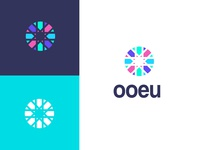 ooeu ooeu rectangle circle clever sumesh jose abstract pattern mosaic future start colourful gradient concept minimal creative identity icon mark illustration logo