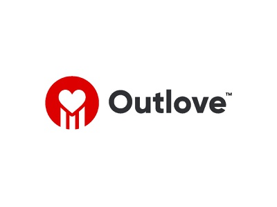 Outlove find matchmaking dating game puzzle fun test red online game strength health heart love brandhalos creative identity icon mark illustration logo