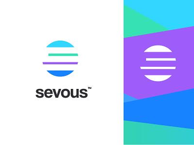 sevous rising sumesh jose business coding programming software design developer technology negativespace gradients colourful s sun branding minimal creative identity icon mark logo