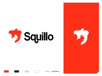 Squillo care support help community busniess fruit seed nut animal negative space squirrel concept minimal creative identity icon mark illustration logo design
