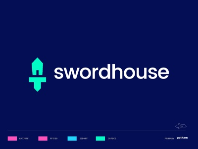 swordhouse1 digital sharpen production house content writer sharp sword home house negative space clever top 9 minimal artission brandhalos creative identity icon mark illustration logo