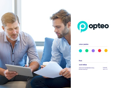 opteo leadership technology chat bot discussion communications speech bubble talk chat search p typography letter concept minimal creative identity icon mark illustration logo