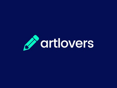 Artlovers together event connect relationship netwok heart love drawing pencil negative space artists artist concept brand creative identity icon mark illustration logo