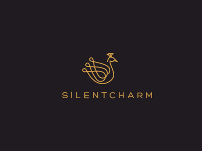 Silent Charm logo icon identity vector mark illustration artission palattecorner peacock fashion sumesh jose maria