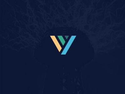 Vimvigor negative space color tech palattecorner technology brandhalos v letter logo identity v and v
