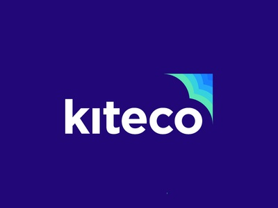 Kiteco icon identity mark illustration logo cloud computing tech technology cloud machine learning height negative space cloud fly kite gradient colourful modern trending abstract top 9 creative concept clever logo designer sumesh jose logo design blue shape