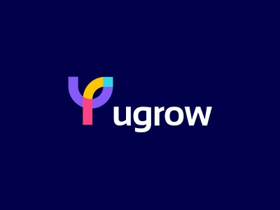 Ugrow ugrow flat minimal best logos modern trend top9 gradient colourfull clever concept flat smart lettering monogram letter y growth forest leaf tree sumesh jose logo designer branding identity icon mark illustration logo