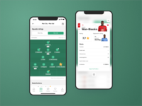 Squad Ratings + Compare | FootStats iOS mobile app design manchester united statistics stats rating player squad team compare bet sport soccer football uxdesign uidesign mobile ios app interface ux ui