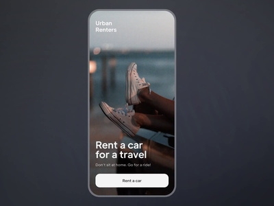 Car Rent App Checkout Animation Interaction UX UI motion graphics interaction animation mobile user experience user interface typography road trip travel booking car car rent rent tesla ios app design interface ux ui