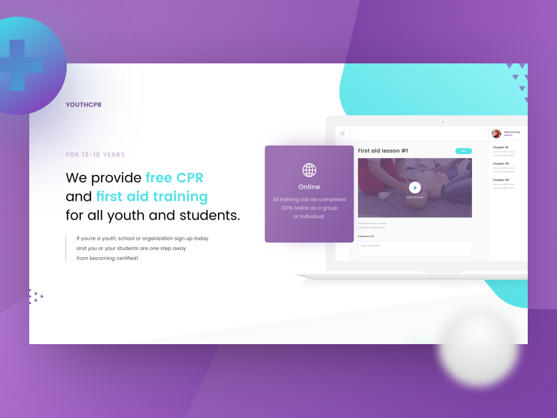Youthcpr Homepage Design By Konstantin Zhuck Dribbble Dribbble
