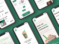 Starbucks Redesign #2 Mobile screens