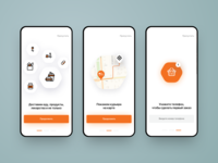 Delivery App Onboarding Screens