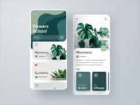 Flower School Plants Application