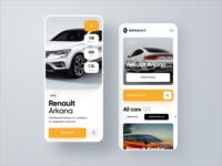 Renault Car Shop | iOS mobile app design renault mobile yellow auto car sketch app ios app design interface ux ui