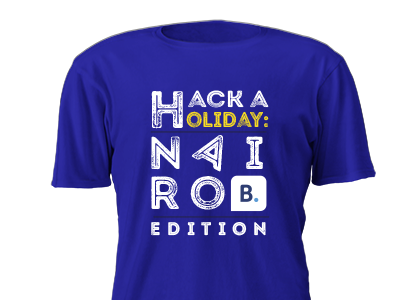Hack a holiday : Nairobi edition t-shirt design t-shirt