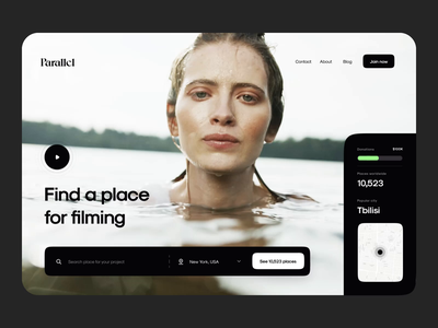 Parallel - Animation Concept water location film landing motion mobile animation ui web