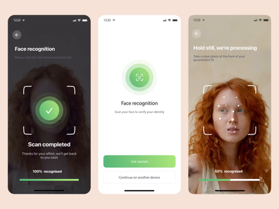 Face Recognize Tool - Interaction mobile ios verify animation interation ux minimal app tool onboarding verifiation id faceid recognize face