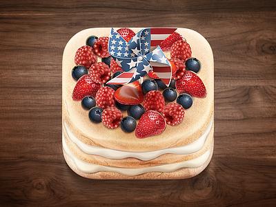 Berry cake vector ios icon cake pie berry strawberries raspberries