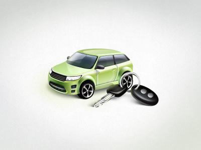 Car car keys green vector icon