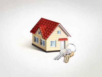 House house keys icon vector
