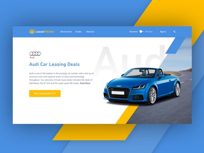 Car Manufacturer landing page audi car clean mobile design responsive website colorful ui ux store landing page web design