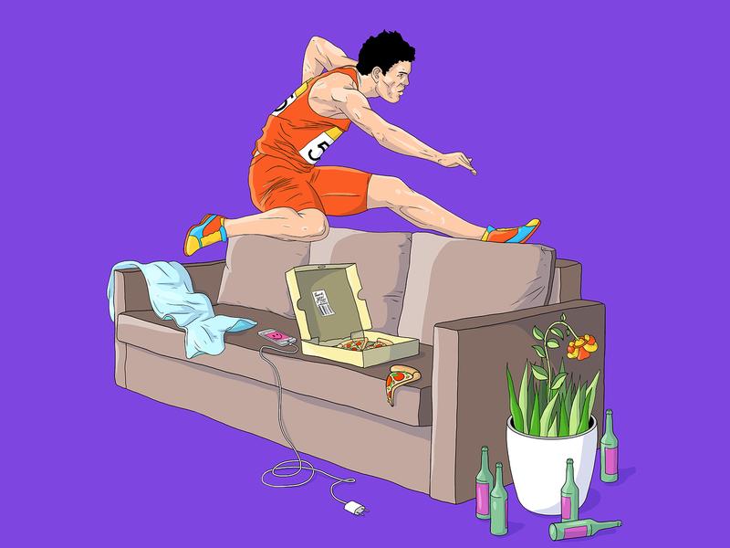 homelympics design art illustration
