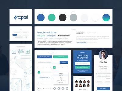 UI Kit concept toptal.com design kit ui