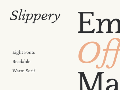 Slippery Warm Serif logotype brand design fonts graphicdesign letter typeface font typography type