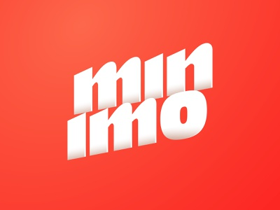 Minimo logotype brand lettering graphic design graphicdesign letter typeface typography type