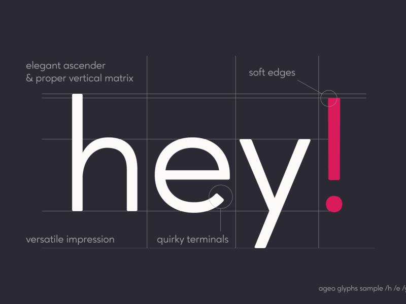 Ageo geometric sans font family typeface letter typography type fonts font