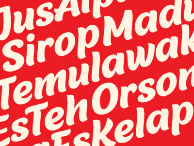 Malvie font design groovy casual lettering type font