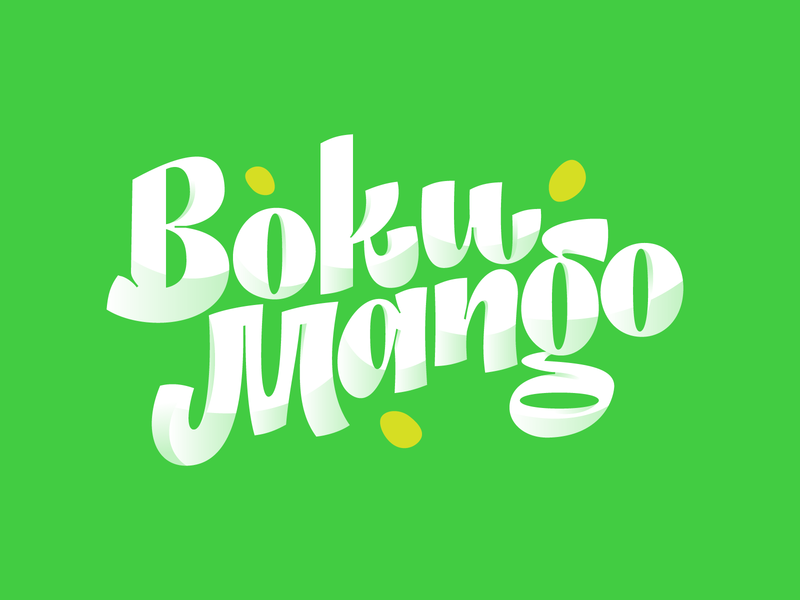 Boku Mango logotype brand design lettering graphicdesign graphic typeface letter typography type