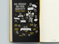 The Creative Minds notebook illustrations