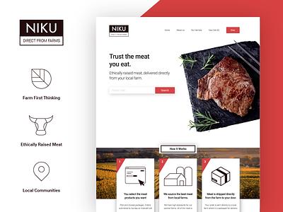 NIKU Website and Brand steak butcher meat e-commerce website brand