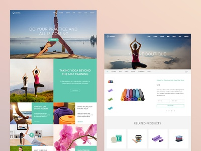 Asana Theme sport theme minimal blog shop ecommerce landingpage wordpress yoga asana