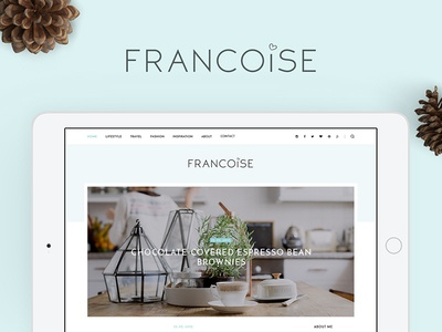 Francoise Theme lifestyle inspiration story minimal clean francoise theme wordpress personal blog